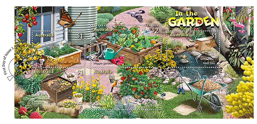 Stamp Collecting Month - In the Garden