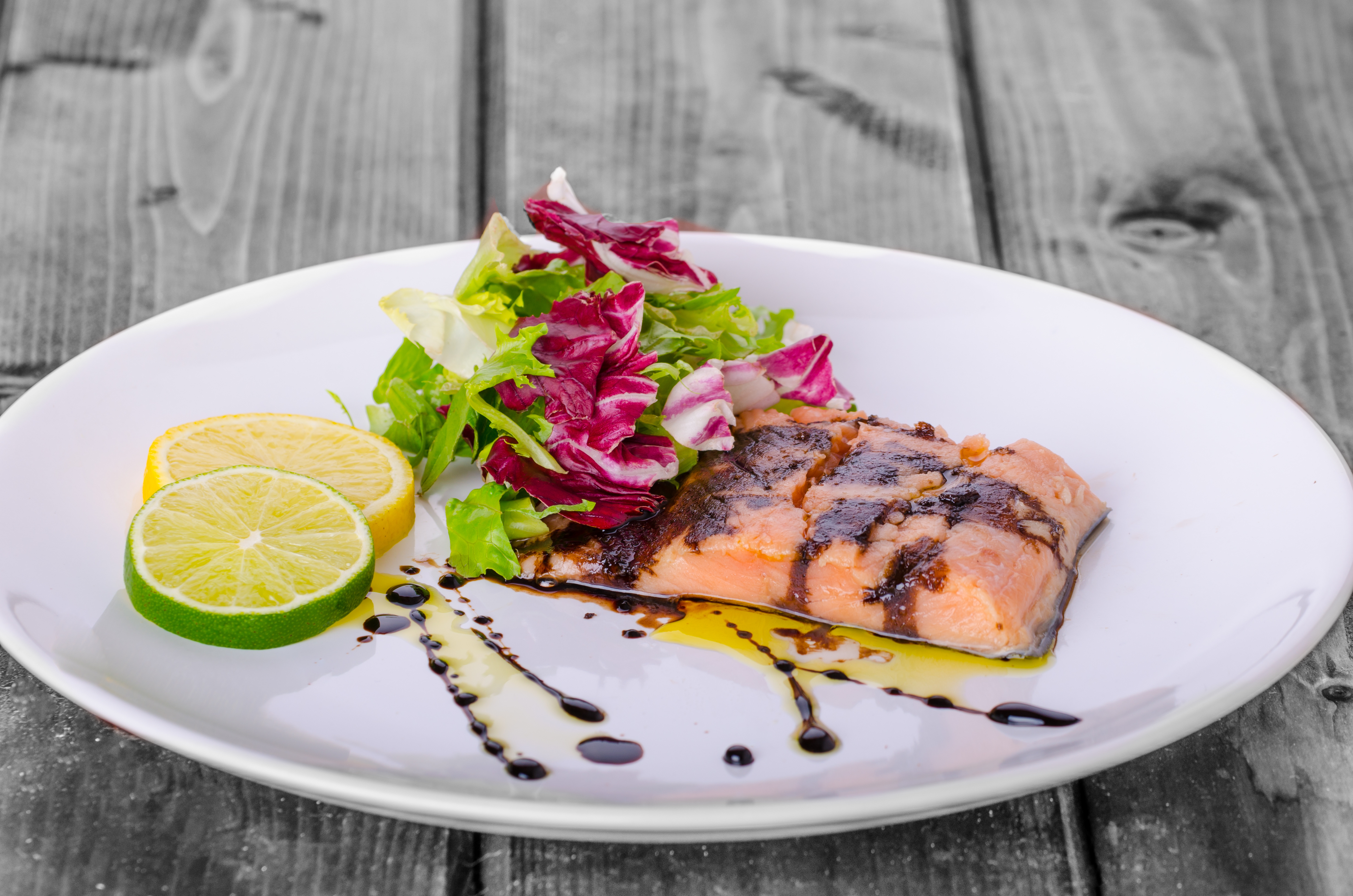 Salmon with Sticky Balsamic